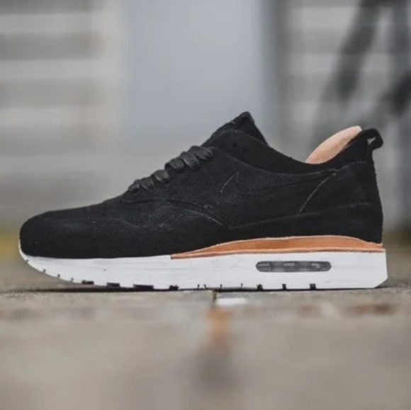 1a4a125f7 Nike Air Max 1 ROYAL Black Suede Leather